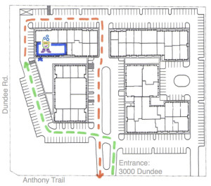 3000 Dundee Driving Map